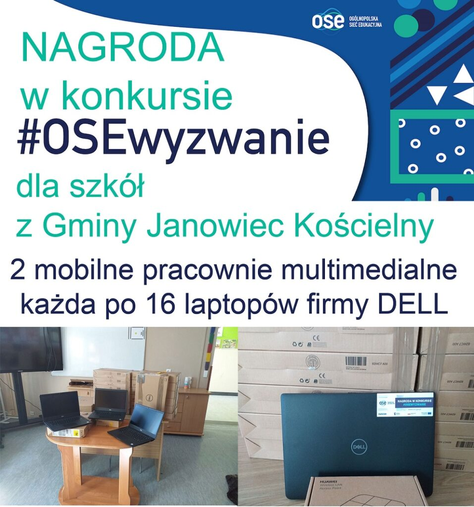 Plakat z informacją o nagrodzie w konkursie #OSEwyzwanie