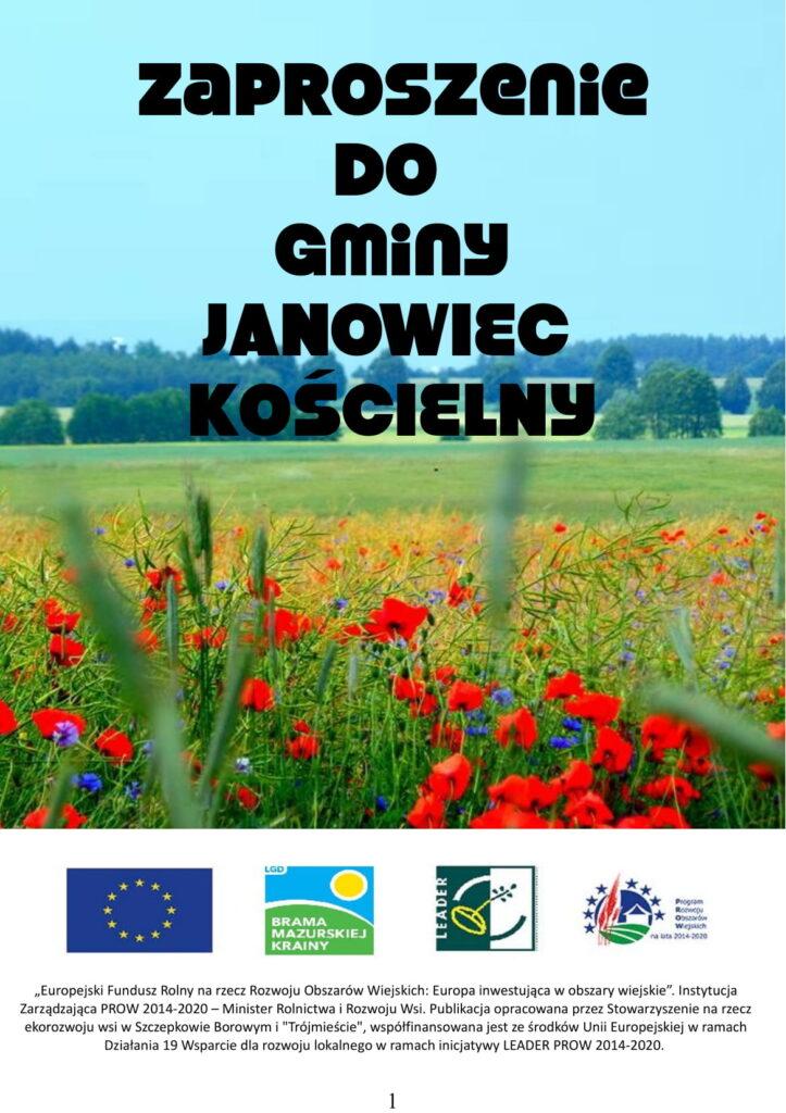 Pierwsza strona publikacji, widok łąki z roślinami.