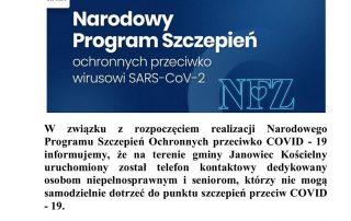 informacja dotycząca szczepień przeciwko COVID