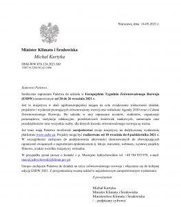 List otwarty MMK ws. ESDW 2021-1