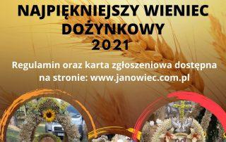 Plakat wieniec dożynkowy 2021