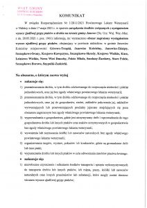 KOMUNIKAT w sprawie zarządzenia środków związanych z wystąpieniem wysoce zjadliwej grypy ptaków u drobiu na terenie gminy Janowo.